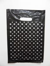 Small Black Carrier with Silver Dots - Pack 100